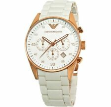 Emporio Armani Men's Sport White Dial Watch AR5919