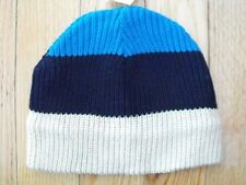 The Children's Place Boys Striped Hat 10-14 Blue Navy White 50% Off NWT New