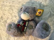 """Me to You singing Teddy Bear 8"""" grey plush sitting Spanish song new Willy toys"""