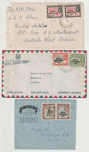 D3084: (7) British Guiana QE II Overprint Covers