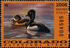 COLORADO #17 2006 STATE DUCK RING NECKED DUCK  by Michael Ashman