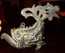 BRULEUR A ENCENS EN BRONZE - DRAGON FISH - 1400 AD - CHINESE MING INCENSE BURNER