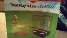 Treat Play-n-Learn Bird Cage for Parakeets. Lots of fun for your bird!