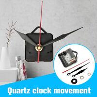 Quartz Clock Movement Black & Red Hands DIY Wall Mechanism Repair Tool Parts Kit