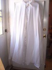 Long White Handmade Fleece Cape