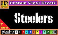 "7"" Pittsburgh STEELERS NFL football vinyl truck car laptop window sticker decal"