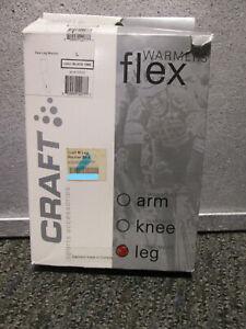 Craft Bike Leg Warmer - Flex Leg Warmer Cycling Winter Unisex - Black - NEW