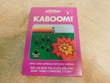 Kaboom! Atari 2600 Game Complete Box Manual CIB