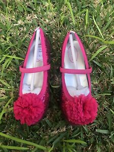 NEW STRIDE RITE Girls Buffy Mary Jane Shoes Hot Pink12.5 UK12 EU 30.5 RRP$69.95