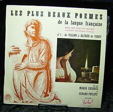 Les Plus Beaux Poemes-No 1-De Francois Villon a Alfred De Vigny-Maria Casares
