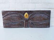 Magnifiques Yeux de bouddha bruns - 30 x 80 cm - méditation mandala bouddhisme