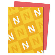 Neenah Paper Astrobrights Colored Card Stock 65 lb. 8-1/2 x 11 Rocket Red 250