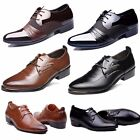 HOT Men's Pointed Toe Casual Leather Shoes Lace Up Formal Dress Business Oxfords