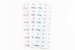 """EBay-Branded Tissue Paper 20"""" x 30""""  Blue Red Purple, Holiday, Sealing Dots etc"""