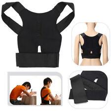 New Adjustable Magnetic Back Shoulder Posture Corrector Support Brace Vest UK