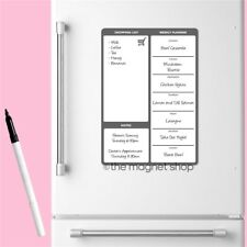 Magnetic Meal Planner Memo Whiteboard Fridge A4 Dry Wipe Family Prep Diet