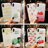 Cute Fruits Pattern Slim Relief Matte Soft Case Cover For iPhone X 8 6s 7 Plus