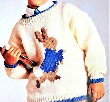 Vintage Reynolds Knit Kits Child Sweater Beatrix Potter Peter Rabbit