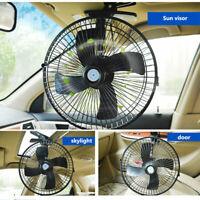 12/24V Ventilador Coche de Electrico Ventilador para Auto con Encendedor ABS