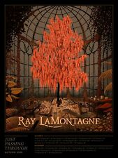 RAY LAMONTAGNE US TOUR POSTER LIMITED EDITION SCREEN PRINT BY NICHOLAS MOEGLY