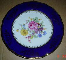 Epiag Czechoslovakia Collectors Plate Cobalt FLOWERS