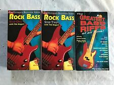 3 Rock Bass VHS Videos - Rock Bass 1 & 2, Greatest Bass Riffs of all Time!