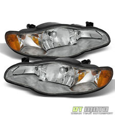 2000-2005 Chevy Monte Carlo Replacement Headlights Lamps Set 00 01 02 03 04 05