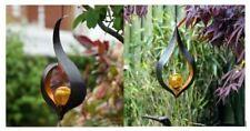 Hanging Solar Lights Outdoor Garden Flamelight Sculpture Fire Crackle Bulb