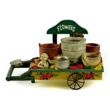 Miniature Dollhouse Fairy Garden - Flower Wheelbarrow Container - Accessories