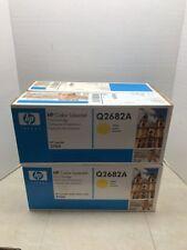 Lot of 4 Q2682A 311A Genuine New HP Yellow Toner Print Cartridge LaserJet !