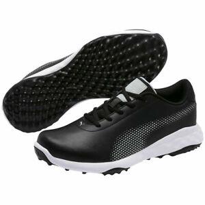 Puma Mens Grip Fusion Tech Spikeless Golf Shoe - Black/Quarry