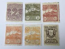 old stamps SAN MARINO   x 6