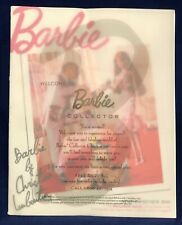 Barbie Collector Spring Preview Reference and Pricing Guide 2010 Magazine Signed