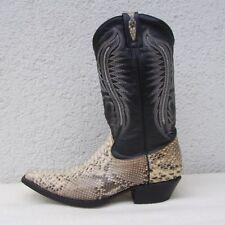 GO`WEST  Herren Stiefel Western Cowboy Phyton/Leder schwarz/grau/weiß Gr. 41,5