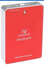 amps&watts 9-In-1 Portable 5500mAh Power Bank - Retail Packaging - Red