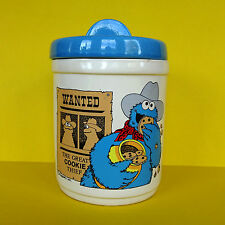 Vintage 80's Cookie Monster Thief Jar Sesame Street Ceramic Muppets Demand Marke