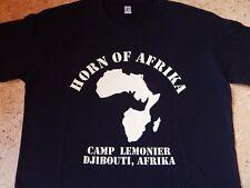 T-Shirt schwarz Gr. XL mit Druck Camp Lemonier, Djibouti, Afrika, Horn of Afrika