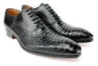 Ivan Troy Black Crocodile Handmade Men Italian Leather Dress Shoes/Oxford Shoes