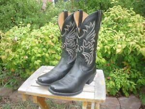 Men's 8.5 D M Ariat Legend Phoenix Black Deertan Cowboy Dress Boots 10002296