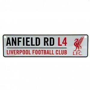 Liverpool FC Window Sign White Football Sign Anfield Road L4 LFC Birthday Gift
