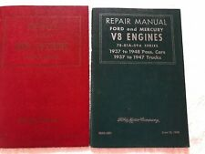 Original Ford Repair Manuals V8 Engine and Fuel Systems 1937-1948