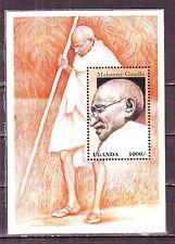 Uganda(Africa)-Gandhi 1000 /- MNH Miniature Souvenir Sheet #G28