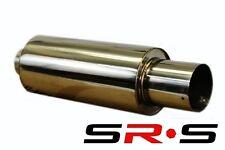 """SRS 3"""" R1 Stainless Steel UNIVERSAL Muffler HONDA Mitsubishi Toyota Mazda JDM"""