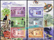 2012 Malaysia 2nd Series Malaysian Currency Notes 2 Sheetlets 6 Mini-Sheet Stamp