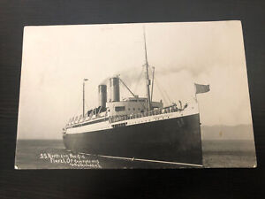 1915 RPPC Photo Postcard--OREGON--Flavel--Ship SS Northern Pacific--F. Woodfield
