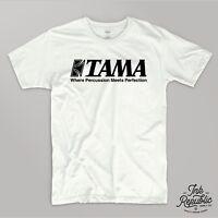TAMA DRUMS T-SHIRT Superstar Drummer DW Pearl Drum Tee Top