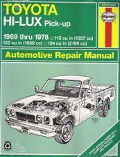 1969-1978 Toyota Hi-Lux & High-Ace Pick-up Repair Service  WorkshopManual 5162