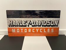 HARLEY DAVIDSON MOTORCYCLES 600 X 300 MM METAL SIGN HEAVY DUTY MAN CAVE GARAGE