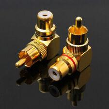 2x Metal Winkeladapter 90° Winkel RCA Chinch Stecker Adapter Cinchwinkelstecker