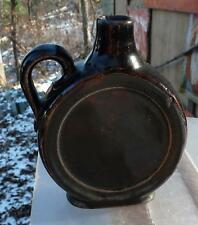 "MINIATURE STONEWARE CANTEEN OR DRUM JUG-4 1/2"" tall-c1890s"